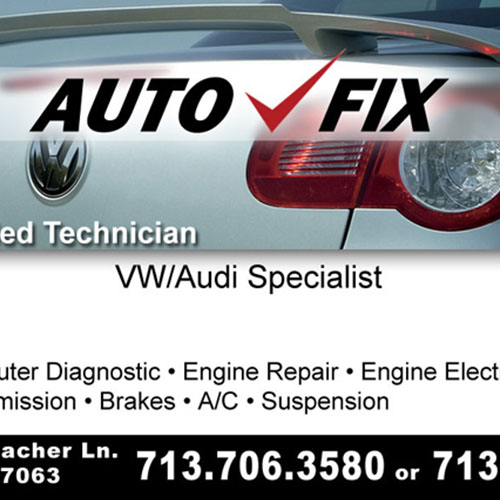 Auto Fix (Business Card)